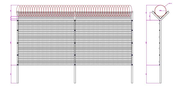 Wholesale High security Airport Fence