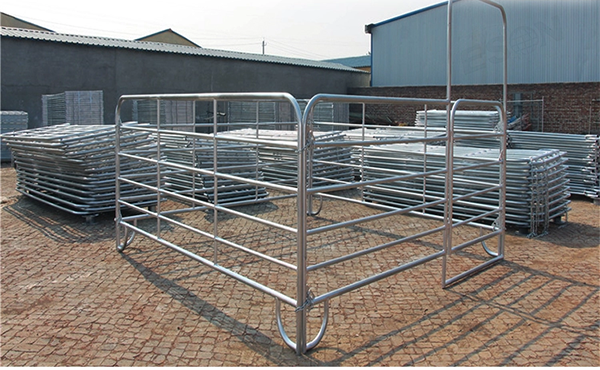 Galvanized Temporary Mobile Ranch Cattle Panels